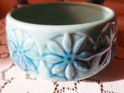 Zsolnay alapmázas termék:   Virágmintás tál