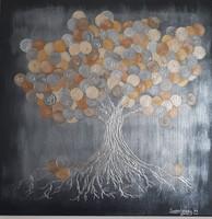 Pénzfa  50x50 festmény