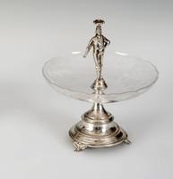 Ezüst asztalközép figurális felső résszel