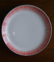 Ritka díszítésű ! Retro Kispest Gránit  nagy méretű (30 cm )  porcelán tálaló tál, tányér