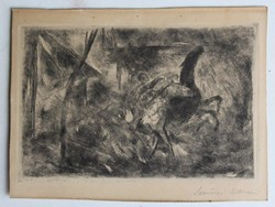 Szőnyi István (1894-1960): Úsztatáshoz induló lovak