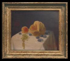 Török S. Károly: Gyümölcskompozíció, 1924 - Nagyon régi, szépen megfestett gyümölcscsendélet
