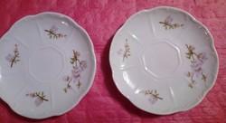 Zsolnay lila barackvirág mintás kávés tányér