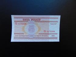 Fehéroroszország 5 rubel 2000 Hajtatlan bankjegy