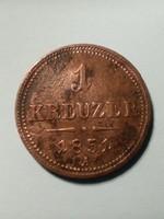 1 Krajcár 1851 A  Nagyon szép