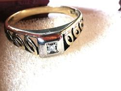 Brilles, régi arany gyűrű (14k)