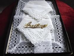 Vintage csipkés zsebkendő