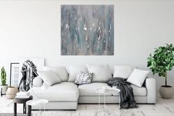 WINTER absztrakt festmény - Kuzma Lilla