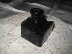 Régi tintás üveg . toll tartó árokkal  48 x 54 x55 mm
