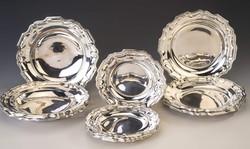 Ezüst tányérkészlet 6 személyre (18 darabos)