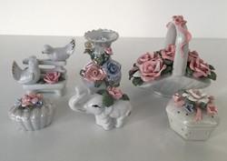 Porcelán figurák egyben 6 db