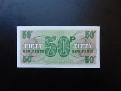 Anglia 50 pence katonai pénz Hajtatlan bankjegy