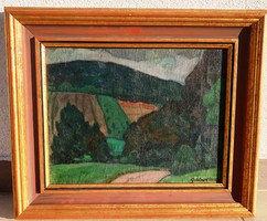 GÁBOR MÓRIC  1889 - 1987 Dombos táj-