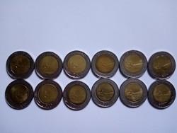 500 Líra  12  darab !! 1982 - 1995 Összes  évszámmal !!!
