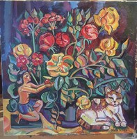 JÓZSA POPPEA  festőművész Virágzás