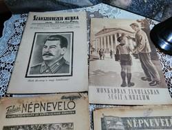 Politikai kiadványok ,1950 -es évekből .