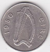 Írország forgalmi pénzérme 1980