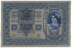 1000 korona 1902 bélyegzéssel