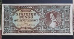 100000 Pengő 1945 Vf+.