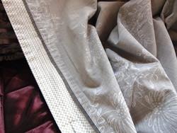 VÉGKIÁRUSÍTÁS !!! Hatalmas paplanhuzat szürke alapon fehér virágmintás