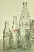 Régi Coca Cola, Pepsi Cola üvegek