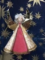 Antik angyal karácsonyfadísz csúcsdísz