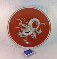 Sárkányos Wallendorf porcelán dísztányér eladó