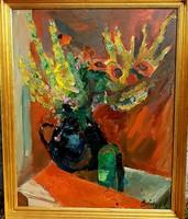 Bényi László (1909-2004): Csendélet 100x80 cm!