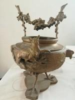 Auguste de Wever bronz kaspó (A róka és a szőlő)
