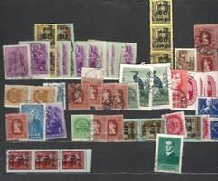 Kb 40 - 60 darab magyar bélyeg lot régiek újak vegyesen felülnyomott stb KIÁRUSÍTÁS 1 forintról