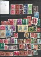 Kb 80-100 magyar bélyeg lot régiek újak vegyesen pecséteélt darabok KIÁRUSÍTÁS 1 forintról