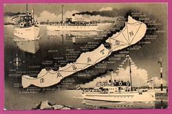 B - 0002     Balatoni kikötők térképe