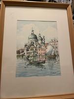 Toni Orsini akvarell Velence