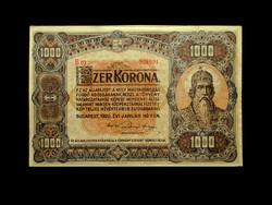 1000 KORONA 1920 - NAGYALAKÚ - EREDETI - GYÖNYÖRŰ