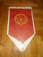 Régi szocialista brigád papír asztali zászló vagy falidísz