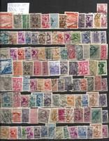 Kb 100 db osztrák bélyeg szép darabok monarchiás kosztüm korai stb lot KIÁRUSÍTÁS 1 forintról