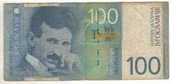 100 dinár 2000 Jugoszlávia