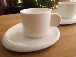 Ristrettos csészék (két szett) modern kivitelben, vitrinállapotban.
