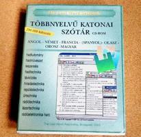 SZÓTÁR CD KATONAI TÖBBNYELVŰ