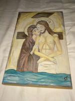 Festett kép, ikon, szignós festmény