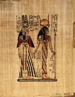 Egyiptomi eredeti papirusz kép.Mérete:33x40 cm.
