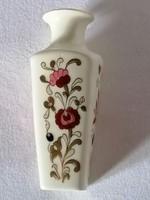 Zsolnay, kézzel festett, retró, virágos váza