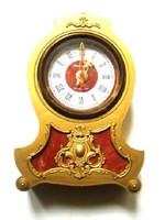 Arany színű címeres kvarc kandalló óra