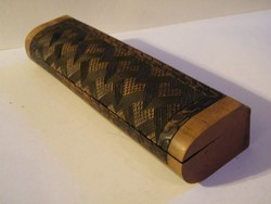 Kézzel készült fadoboz, asztali tolltartó