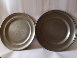18. századi német ón tányérok  1718 szabadkőműves?