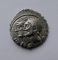 C. Sulpicius C.f. Galba ezüst köztársasági érem.