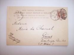 Ritkaság! Chernel István levelezőlapja édesanyjához Marie de Chernelhez