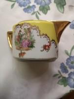 Altwien teás garnitúra, kiöntővel, csészével
