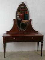 Francia barokk komód-fésülködőasztal tükörrel.