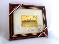KÉP 23Kt. aranyozott PARLAMENT 12 x 14  cm